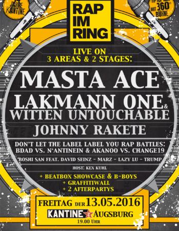 13.5. rap im ring 2016 plakat flyer kantine augsburg web