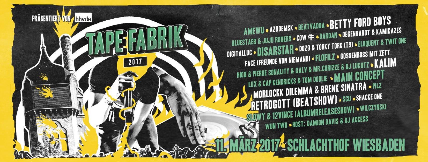 11.03.2017 – TAPEFABRIK FESTIVAL – Schlachthof Wiesbaden