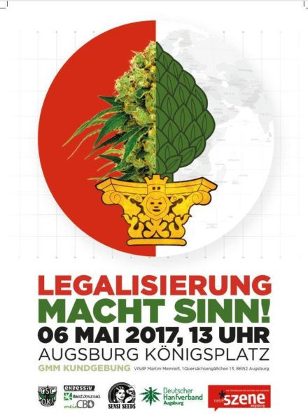 Global Marijuana March 2017 – 06. Mai @Königsplatz Augsburg