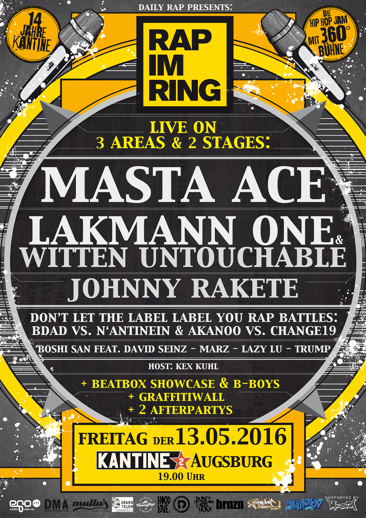 Rap im Ring #3 mit Masta Ace, Lakmann/Witten Untouchable, Don't Let The Label Label You Battles, Johnny Rakete uvm..